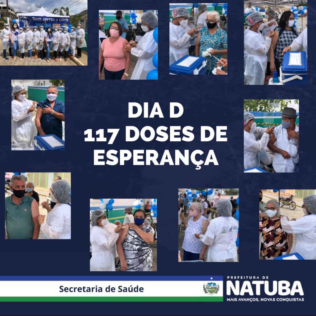 SECRETARIA DE SAÚDE DE NATUBA REALIZA DIA D DE VACINAÇÃO CONTRA A COVID-19 NA ÚLTIMA SEXTA-FEIRA (26/03)