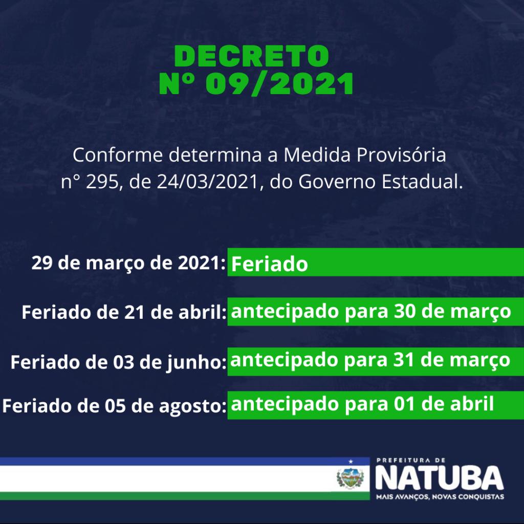 DECRETO N° 09/2021